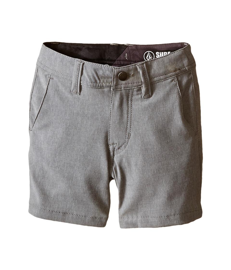Volcom Kids - SNT Static Hybrid (Toddler/Little Kids) (Gunmetal) Boy's Shorts