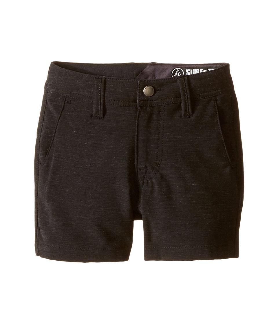 Volcom Kids - SNT Static Hybrid (Toddler/Little Kids) (Black) Boy's Shorts