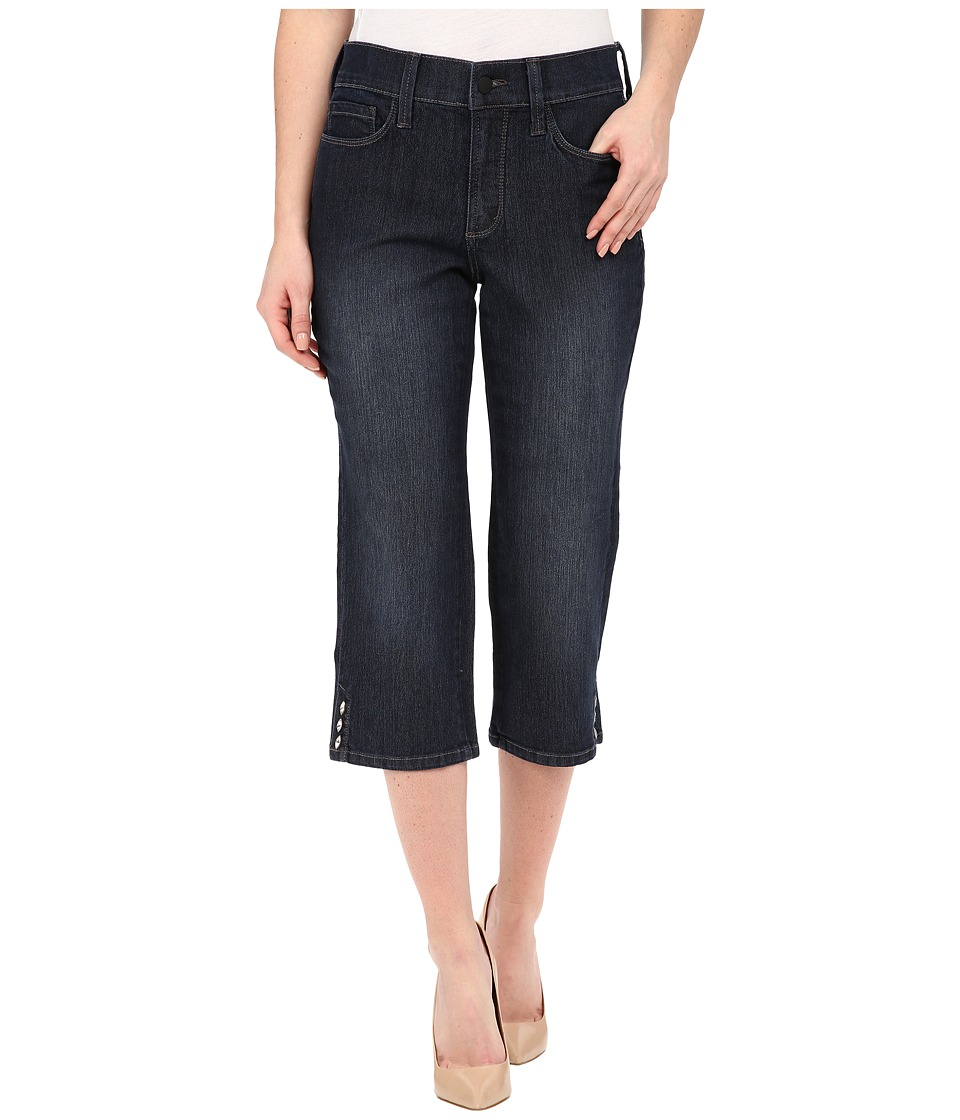 NYDJ - Ariel Crop Novelty Rivet Trim in Burbank Wash (Burbank Wash) Women's Jeans