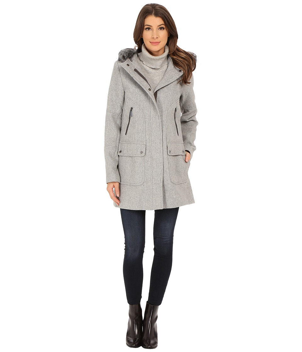 Vince Camuto - Basket Weave Wool J1361 (Light Grey) Women's Coat