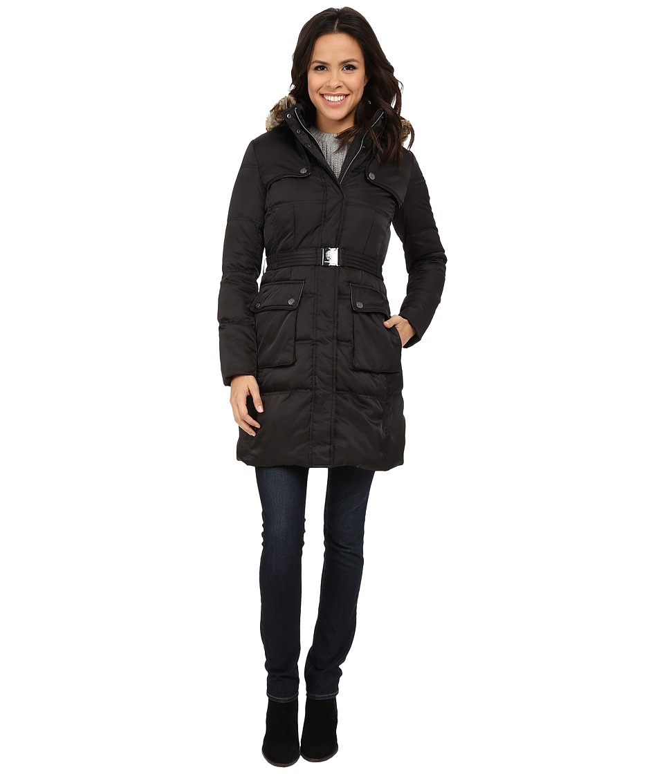 Vince Camuto - Down w/ Hood J8421 (Black) Women's Coat