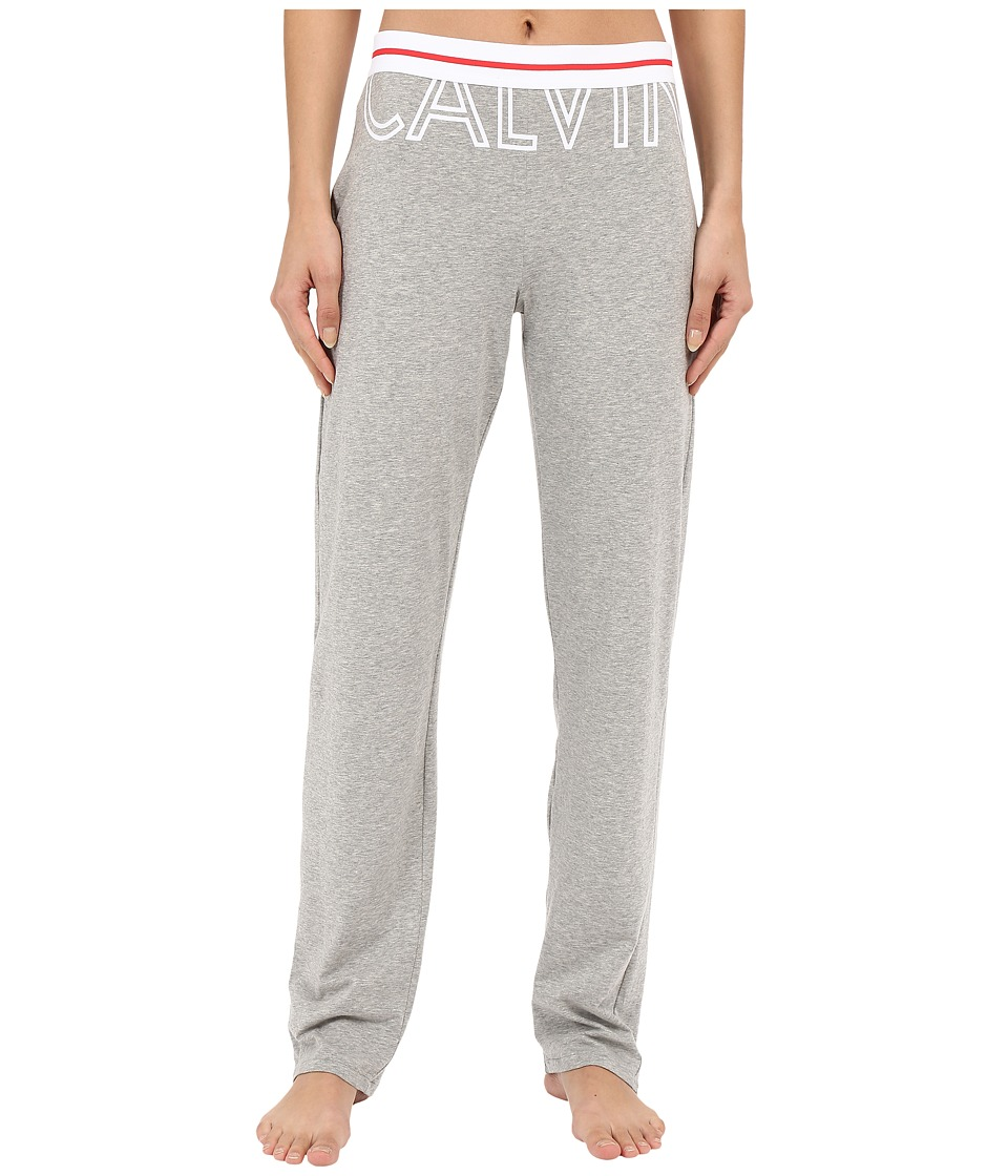 Calvin Klein Underwear - Modern Cotton Pants (Exposed Logo Heather Grey) Women's Pajama