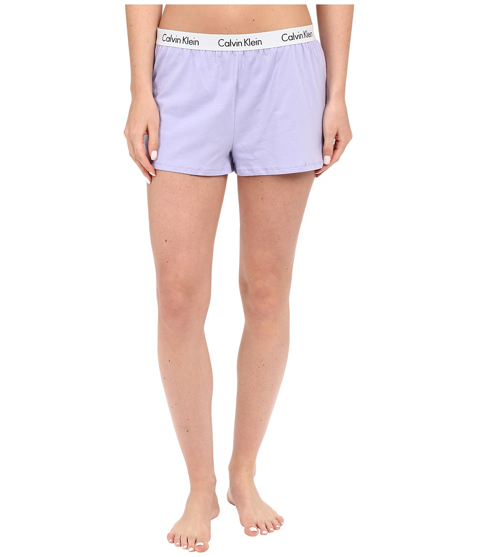 Calvin Klein Underwear - Shift Knit Shorts (Lavender Brush) Women's Pajama