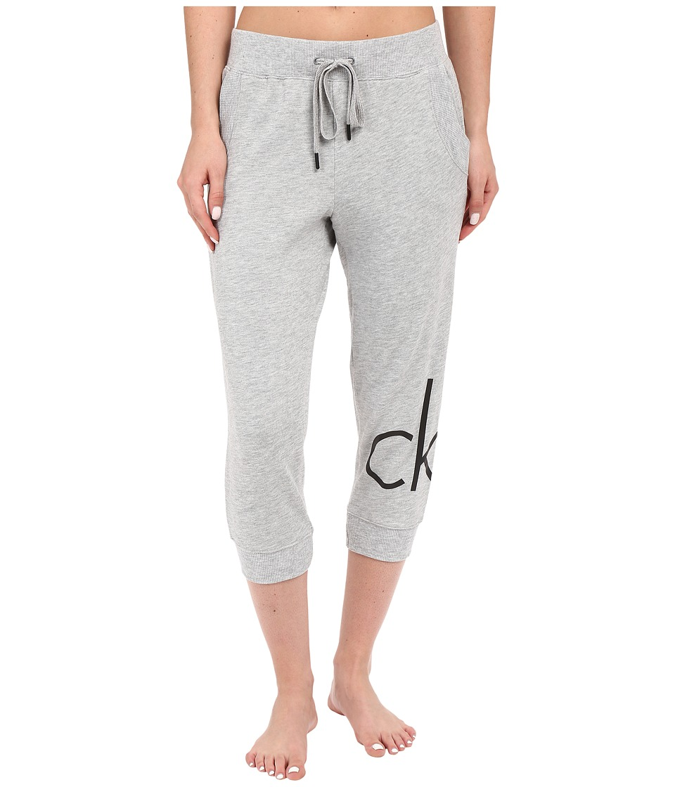 Calvin Klein Underwear - CK Lounge Capris (Grey Heather) Women's Pajama