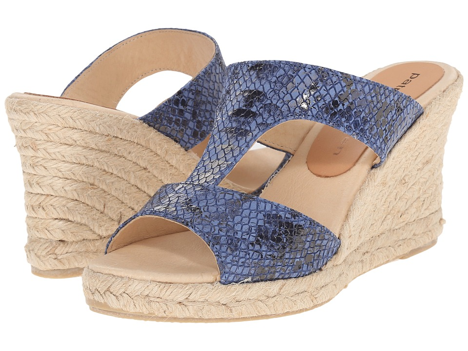 Patricia Green - Python (Cobalt) Women's Slippers