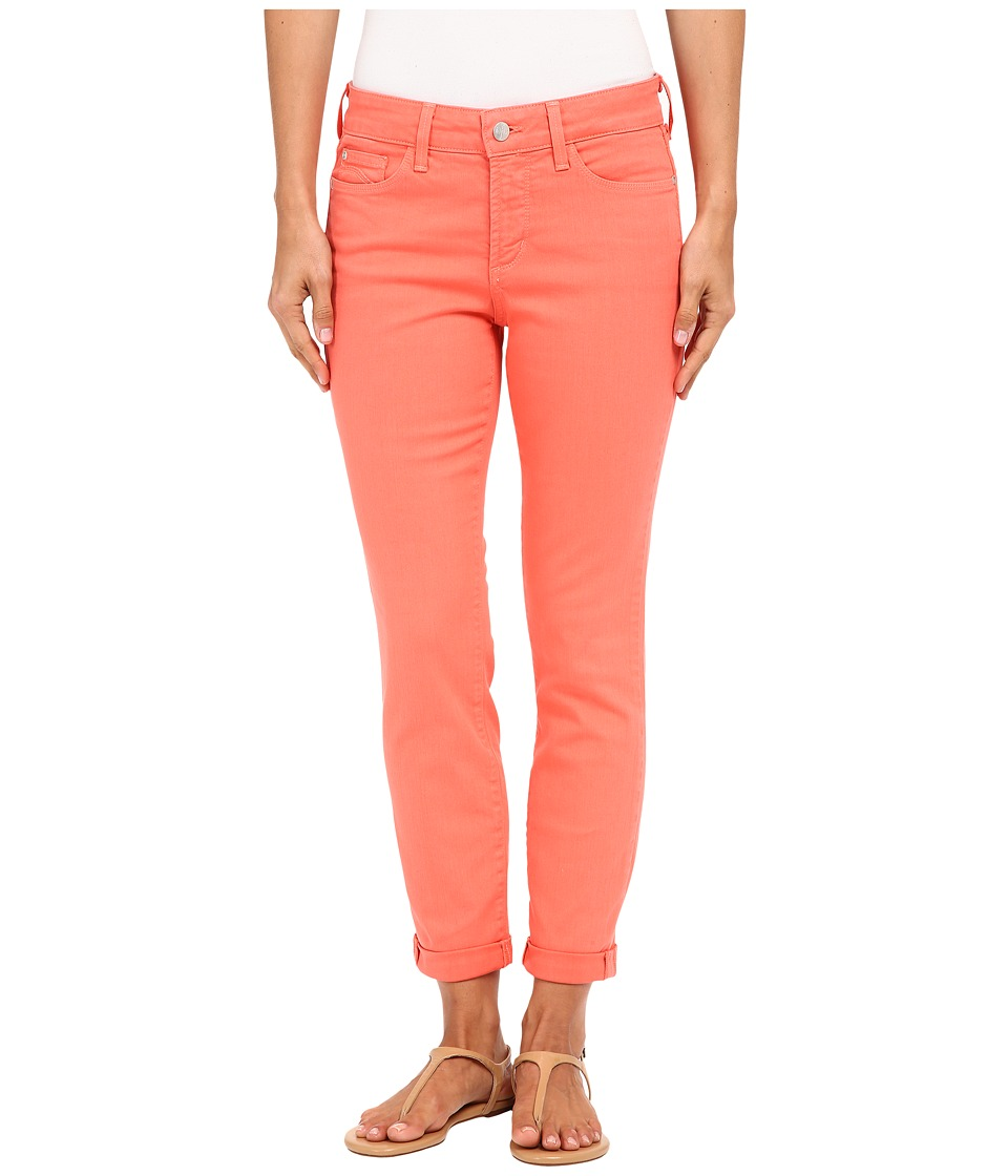 NYDJ - Rachel Rolled Cuff Ankle in Coral Branch (Coral Branch) Women's Jeans