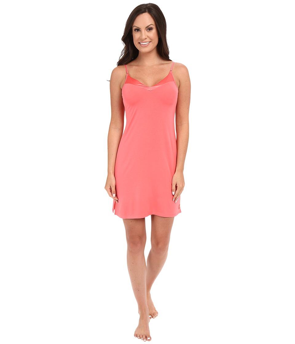 Calvin Klein Underwear - Essentials w/ Satin Trim V-Neck Chemise (Poise) Women's Pajama