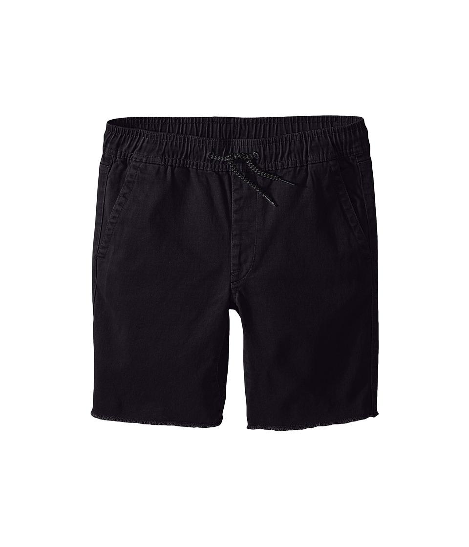 Volcom Kids - Volatility Elastic Waist Shorts (Big Kids) (Black) Boy's Shorts
