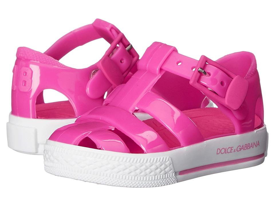 Dolce & Gabbana Kids - Beach Sandal (Toddler/Little Kid) (Geranium) Girls Shoes