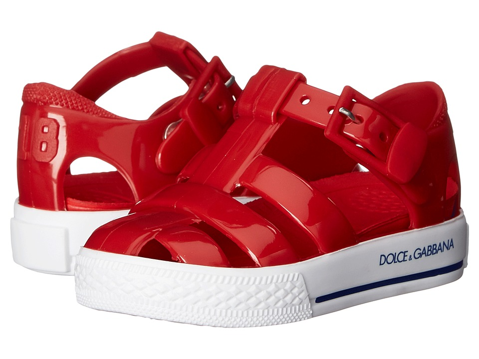 Dolce & Gabbana Kids - Beach Sandal (Toddler/Little Kid) (Red 1) Girls Shoes