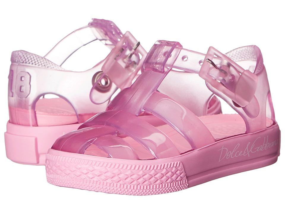 Dolce & Gabbana Kids - Beach Transparent Sandal (Infant/Toddler/Little Kid) (Geranium) Girls Shoes