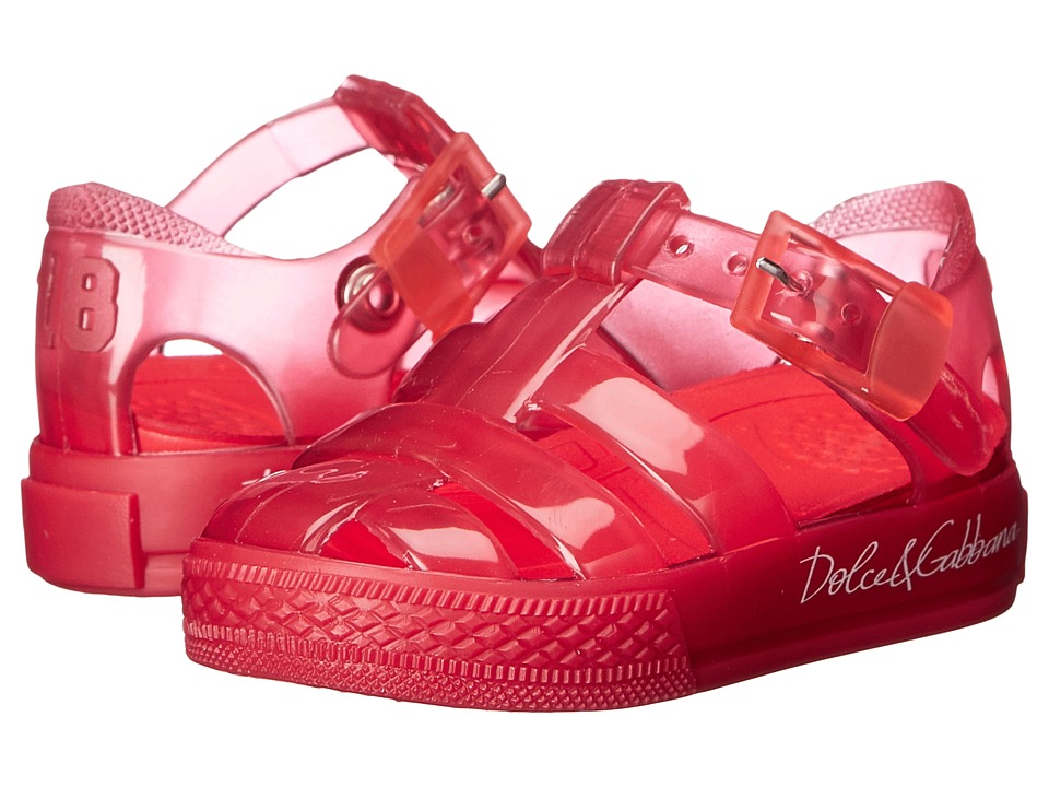 Dolce & Gabbana Kids - Beach Transparent Sandal (Infant/Toddler/Little Kid) (Red) Girls Shoes