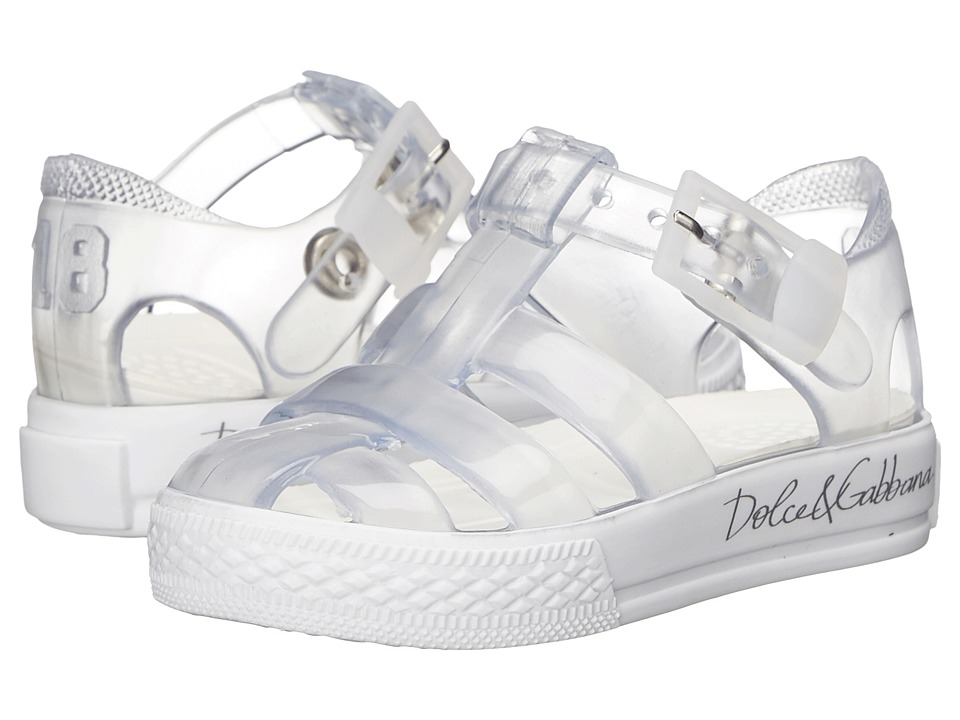 Dolce & Gabbana Kids - Beach Transparent Sandal (Infant/Toddler/Little Kid) (Clear) Girls Shoes