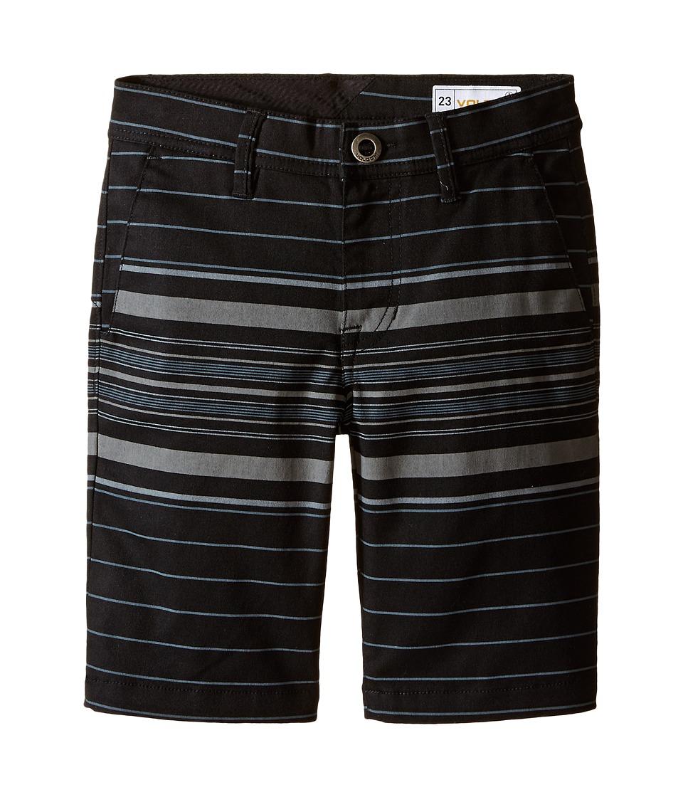 Volcom Kids - Frickin Modern Stretch Stripe Shorts (Big Kids) (Black) Boy's Shorts