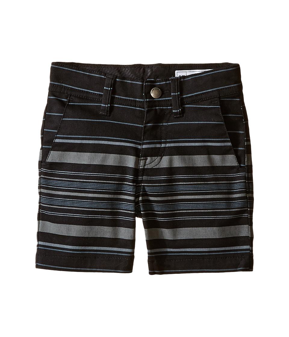 Volcom Kids - Frickin Modern Stretch Stripe Shorts (Toddler/Little Kids) (Black) Boy's Shorts