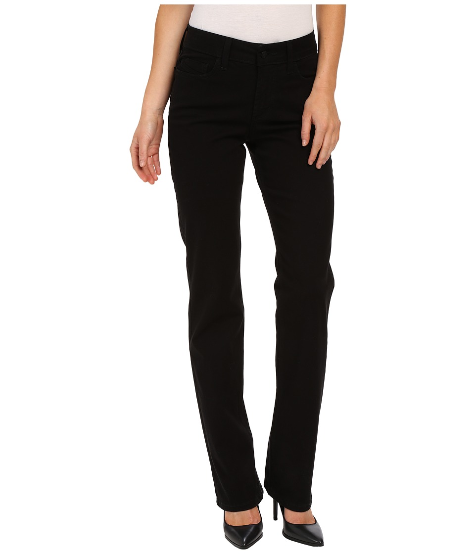 NYDJ - Marilyn Straight in Peached Twill (Black) Women's Casual Pants