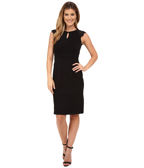 KUT from the Kloth - Pencil Skirt Dress w/ Contrast Yoke (Black) Women