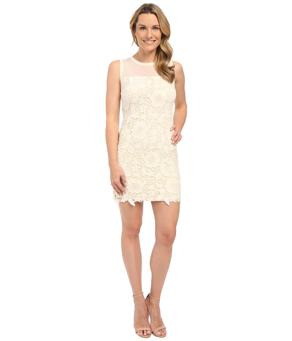 KUT from the Kloth - Illusion Lace Dress (Ivory/Nude) Women's Dress