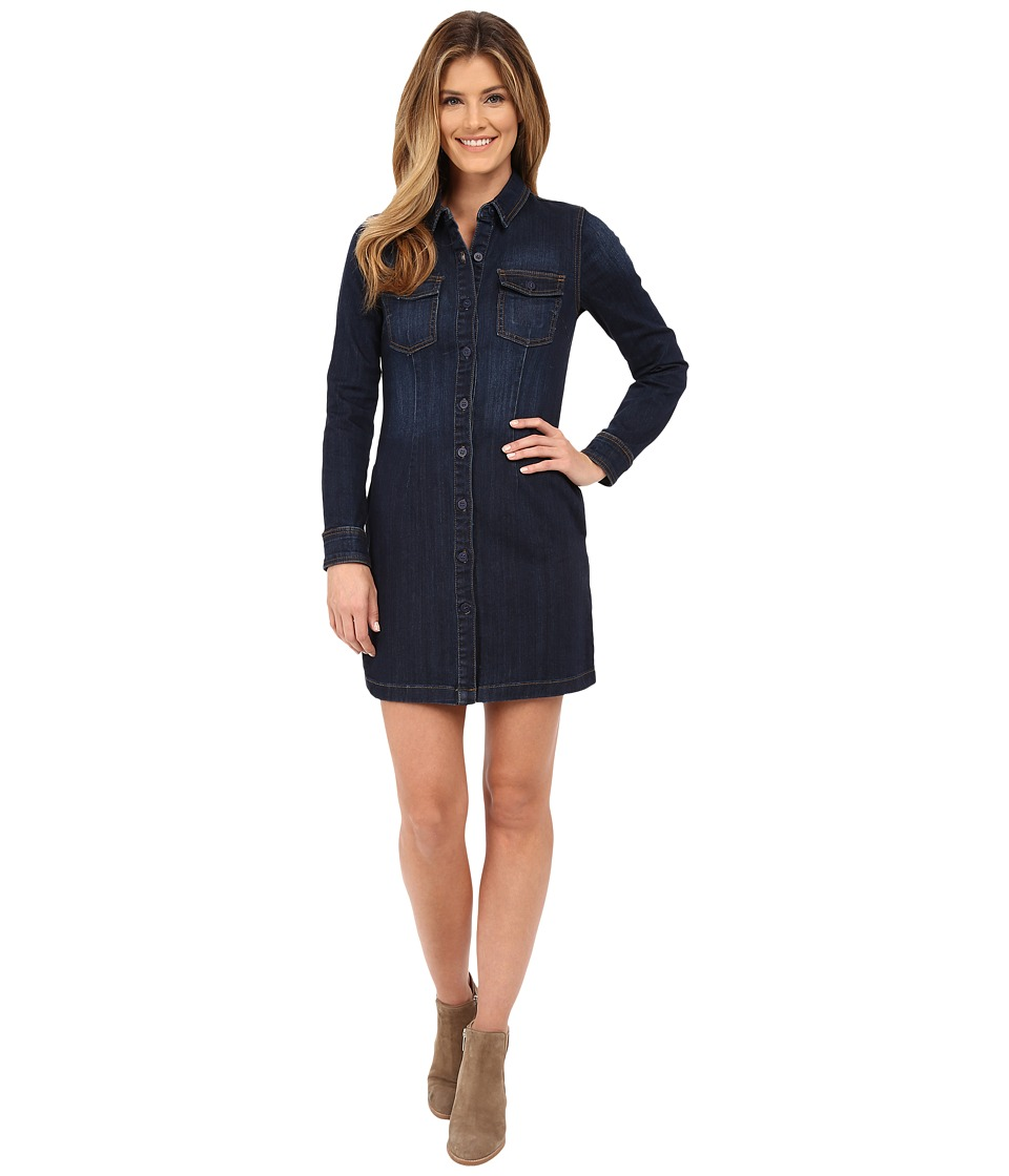 KUT from the Kloth - Blake Front Pocket Shirtdress (Concentrate/Dark Stone Base Wash) Women's Dress