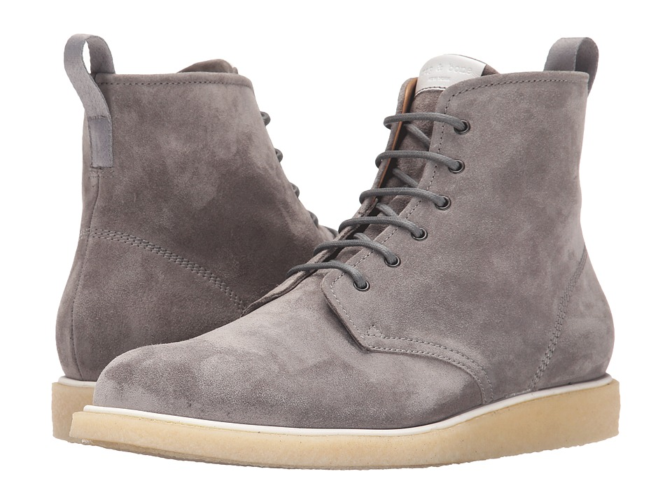 rag & bone - Elliot Lace Boot (Grey) Men's Boots