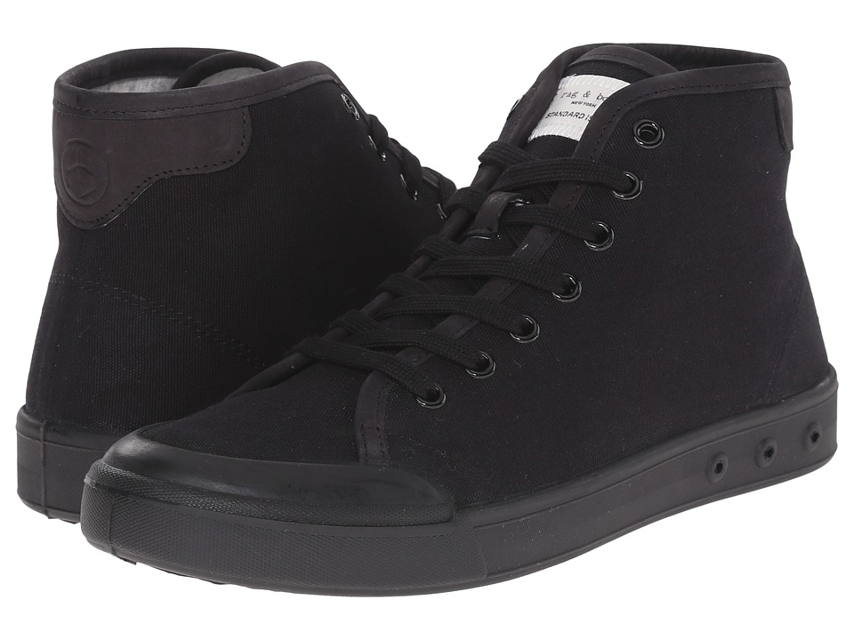 rag & bone - Standard Issue High Top (Black) Men's Shoes
