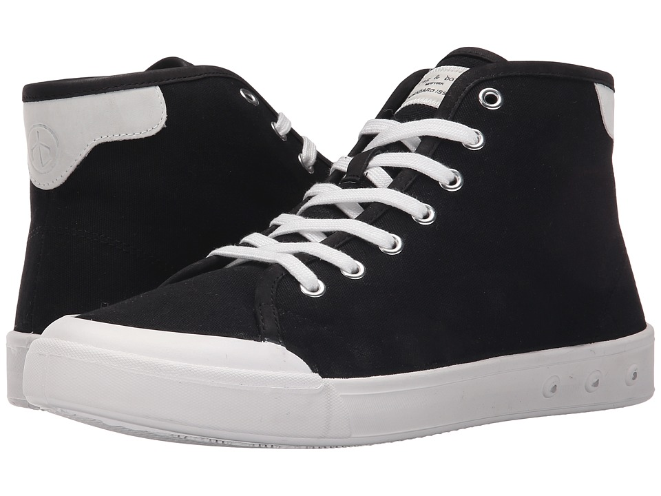 rag & bone - Standard Issue High Top (Black/White) Men's Shoes