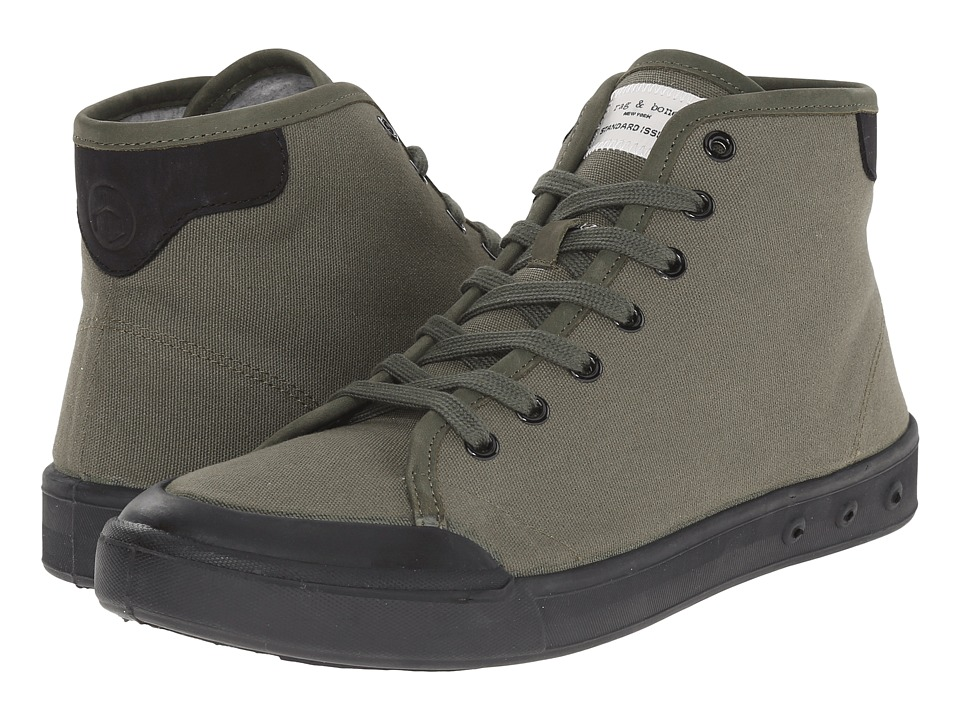 rag & bone - Standard Issue High Top (Olive/Black) Men's Shoes