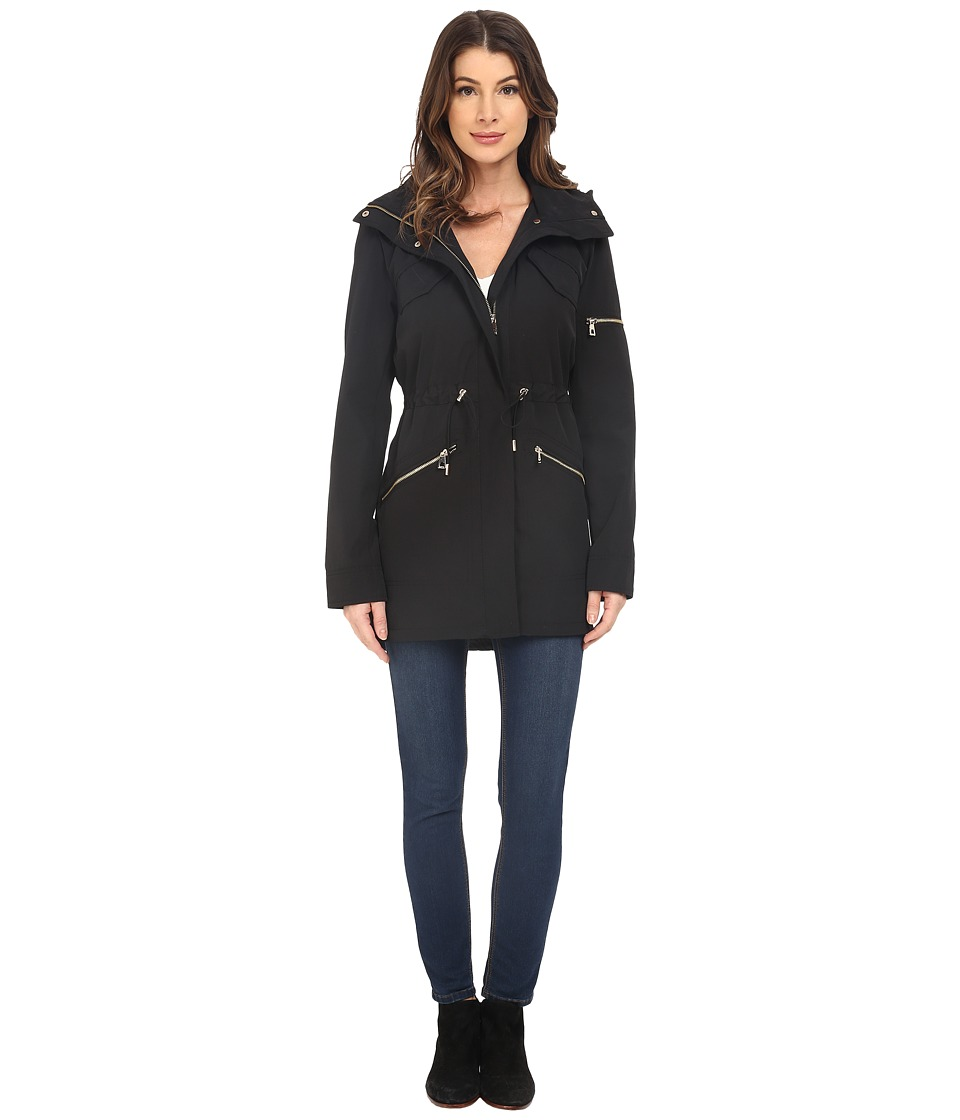 Vince Camuto - Polyester Coated Parka K8691 (Black) Women's Coat