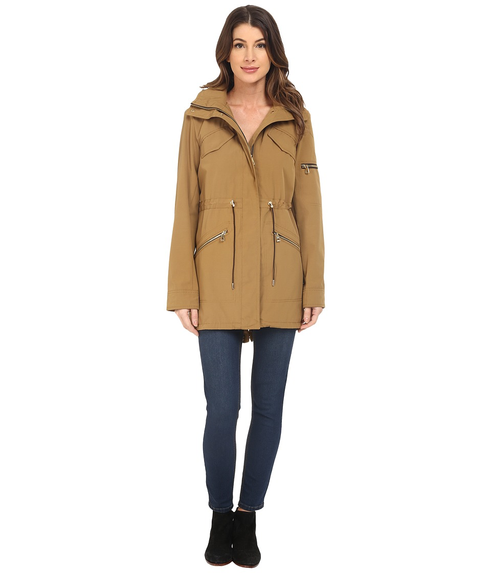 Vince Camuto - Polyester Coated Parka K8691 (Toffee) Women's Coat