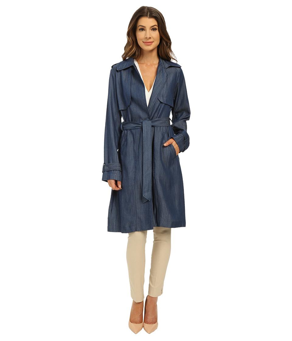 Vince Camuto - Lyocell Rain K8061 (Mid Denim) Women's Coat