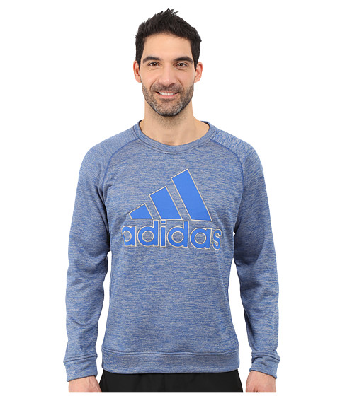 adidas - Team Issue Fleece Appliqu Logo Crew (Blue) Men