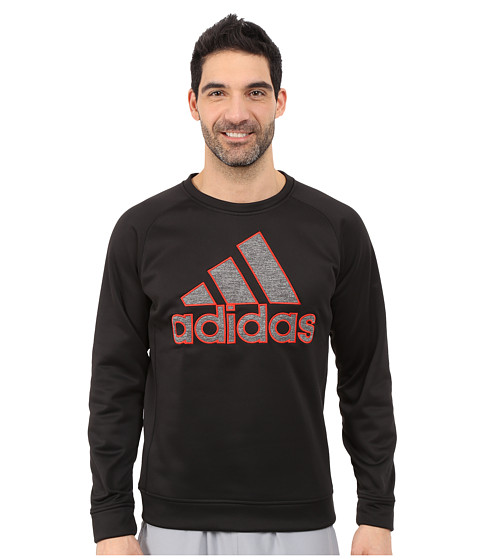 adidas - Team Issue Fleece Appliqu Logo Crew (Black) Men's Fleece