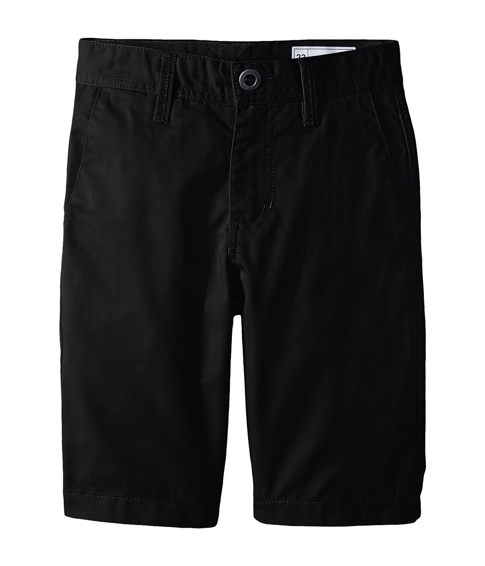 Volcom Kids - Frickin Chino Shorts (Big Kids) (Black) Boy's Shorts