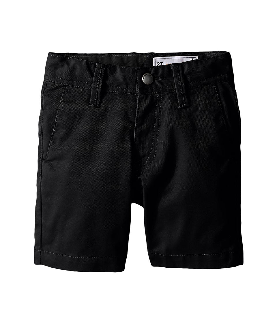 Volcom Kids - Frickin Chino Shorts (Toddler/Little Kids) (Black) Boy's Shorts