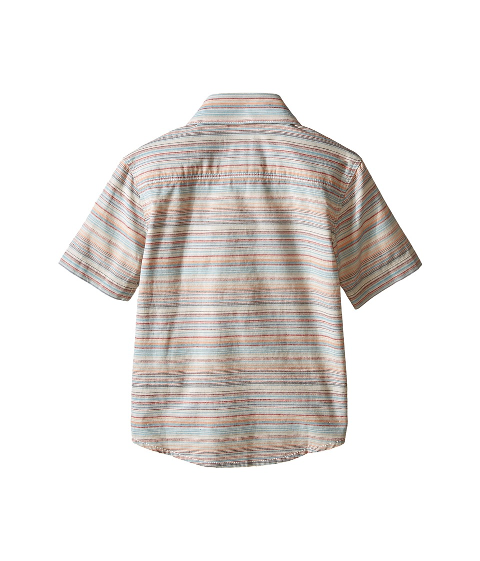 Volcom Kids - Ledfield Short Sleeve Shirt (Toddler/Little Kids) (Melon) Boy's Short Sleeve Button Up