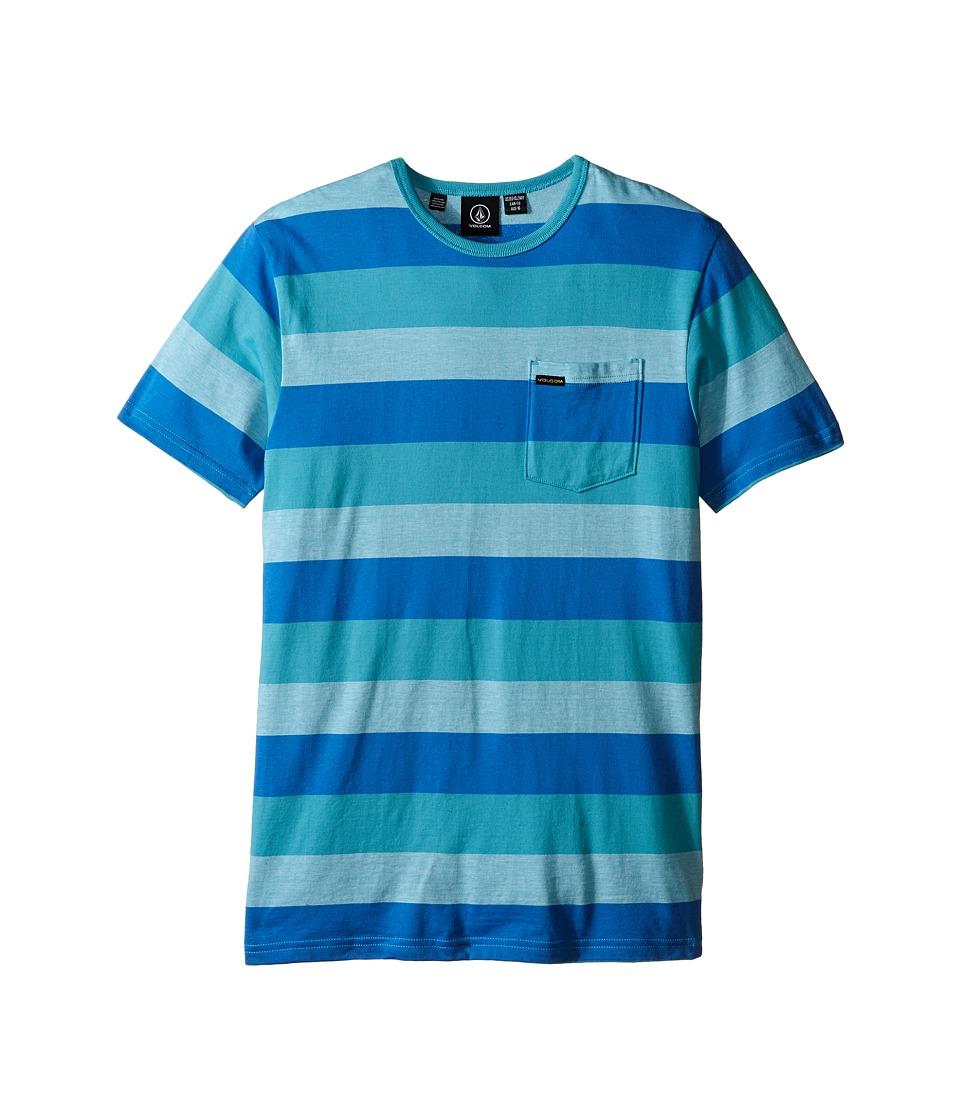 Volcom Kids - Gridley Crew Short Sleeve Tee (Big Kids) (Bluebird) Boy's Short Sleeve Pullover