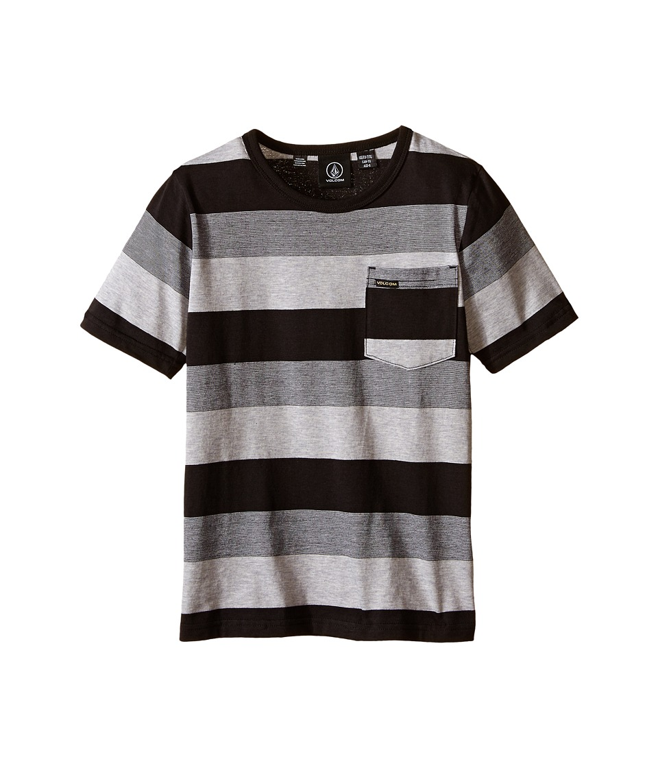 Volcom Kids - Gridley Crew Short Sleeve Shirt (Toddler/Little Kids) (Black) Boy's Short Sleeve Pullover