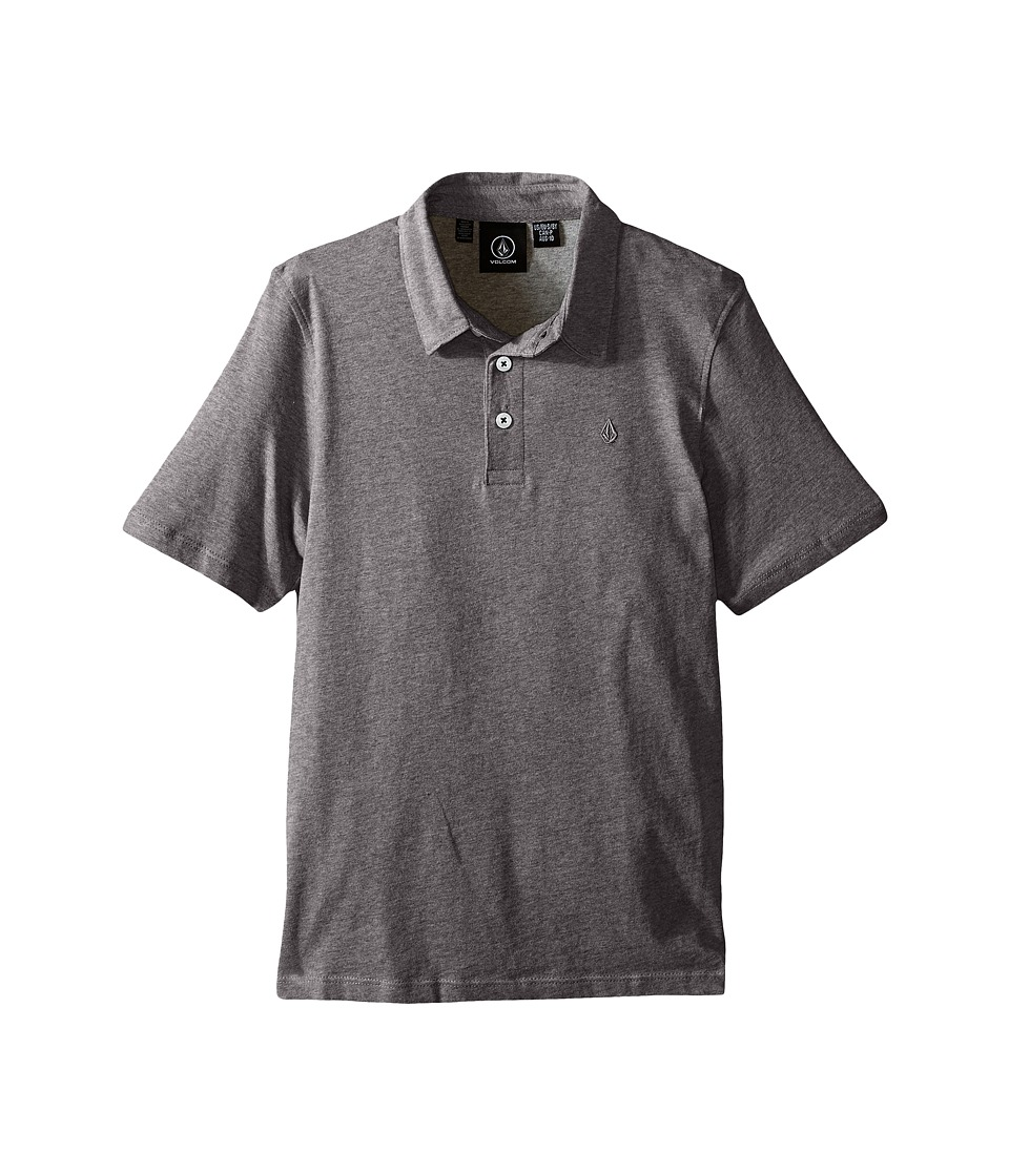 Volcom Kids Wowzer Polo Big Kids Dark Grey Boys Short Sleeve Pullover