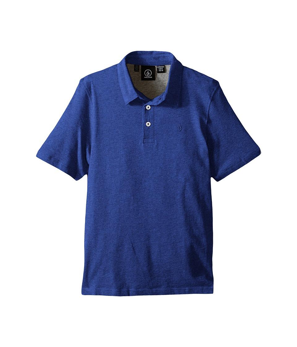 Volcom Kids - Wowzer Polo (Big Kids) (Estate Blue) Boy's Short Sleeve Pullover