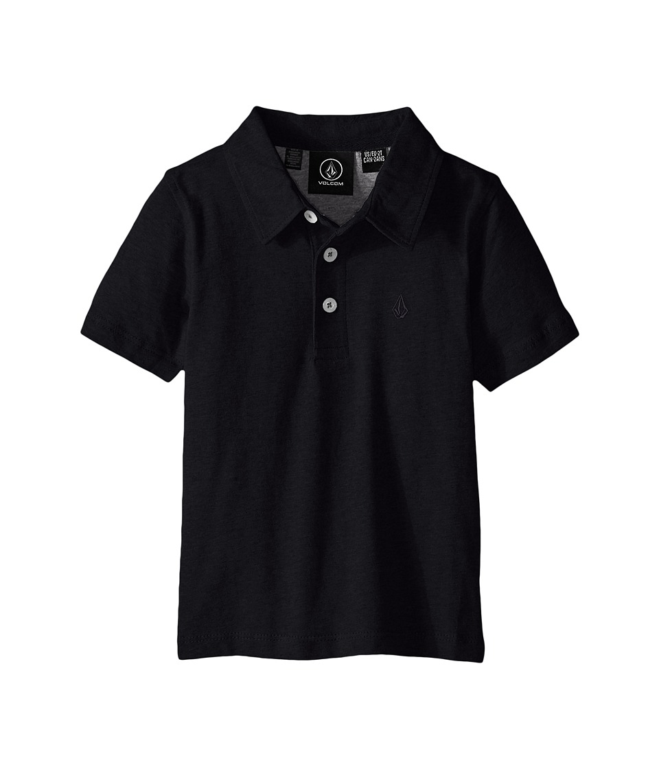 Volcom Kids - Wowzer Polo (Toddler/Little Kids) (Black 1) Boy's Short Sleeve Knit