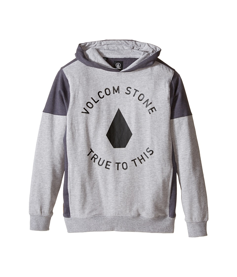 Volcom Kids - Formation Pullover (Big Kids) (Heather Grey) Boy's Sweatshirt