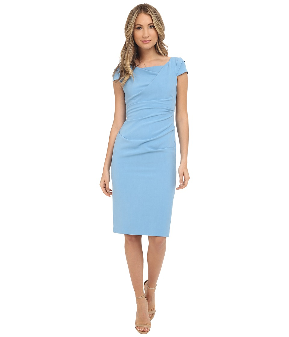 Adrianna Papell - Cowl Side Rusched Sheath Dress (Atlantic) Women's Dress
