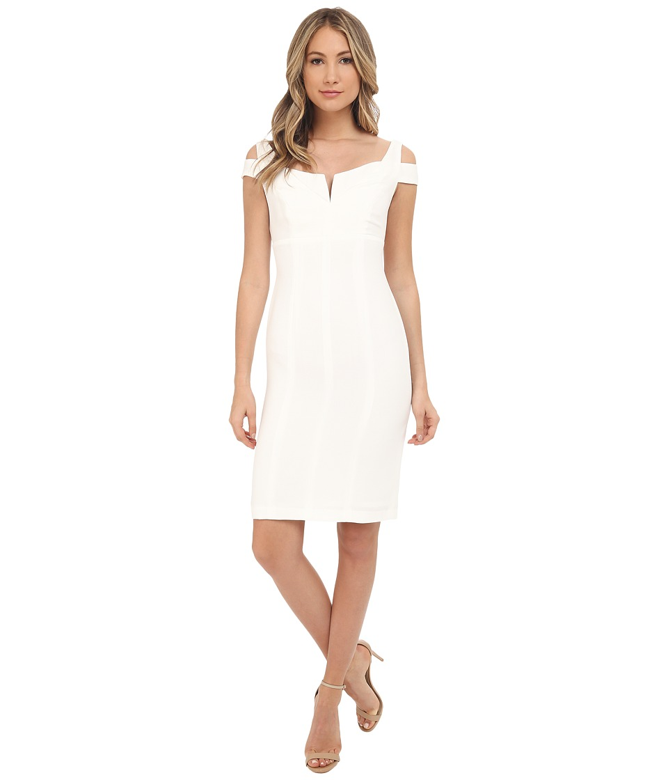 Adrianna Papell - Solid Crepe Empire Dress (Ivory) Women's Dress