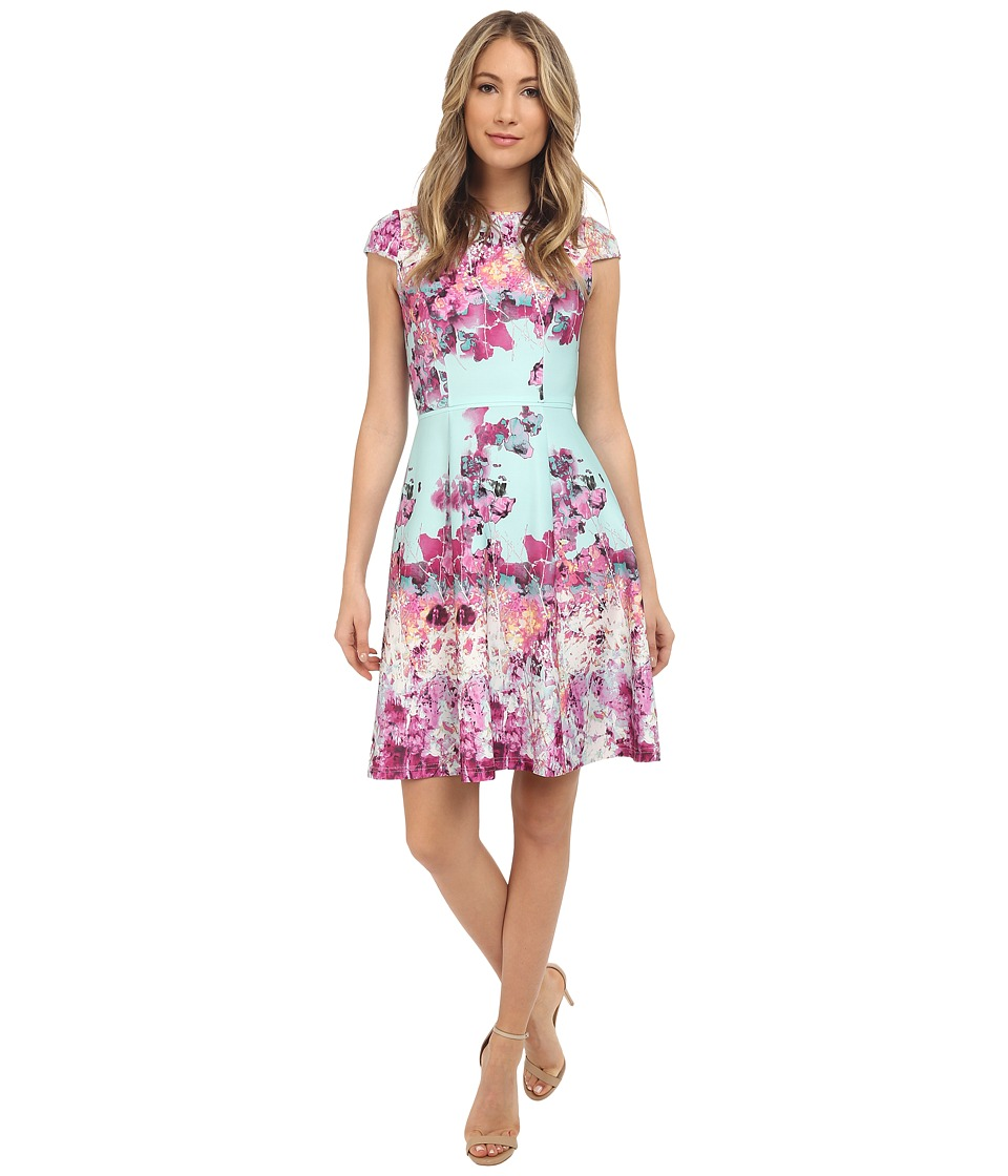 Adrianna Papell Cut Away Fit Flare Dress