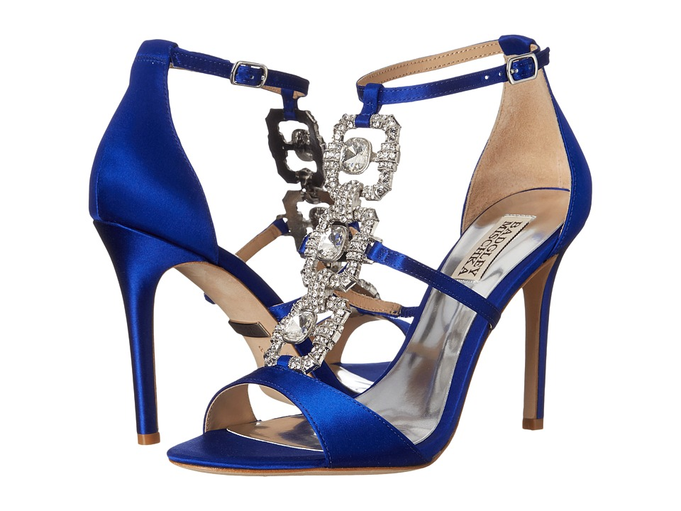 Badgley Mischka - Allie (Violet Satin/Silk Chiffon) High Heels