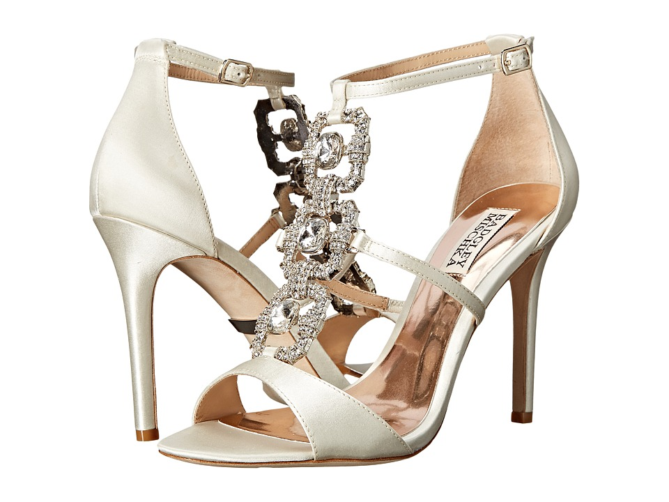 Badgley Mischka - Allie (Ivory Satin/Silk Chiffon) High Heels