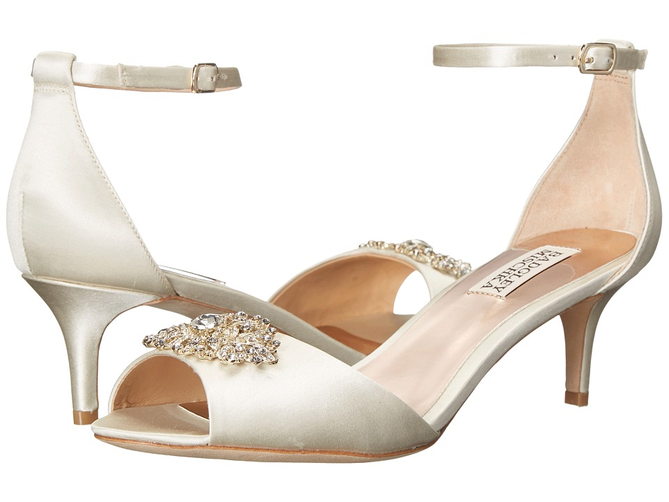 Badgley Mischka - Acute (Ivory Satin) Women's 1-2 inch heel Shoes