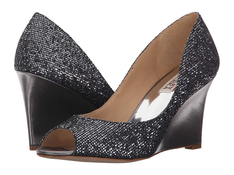 Badgley Mischka - Awake (Pewter Glitter) Women's Wedge Shoes