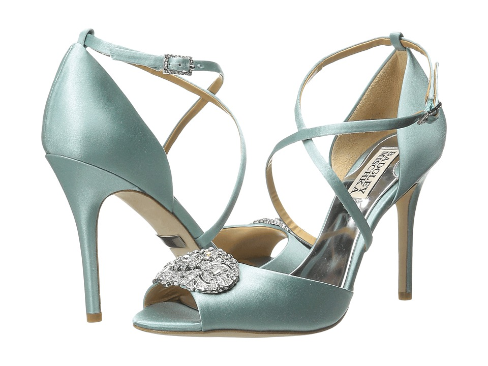 Badgley Mischka - Sari (Seafoam Satin) High Heels