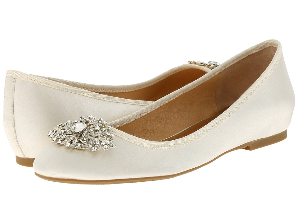 Badgley Mischka Abella (Ivory Satin) Women